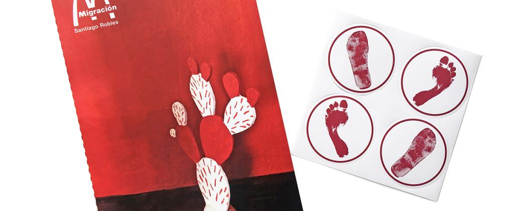 SantiagoRobles, Migracion, ArteContemporaneo, ContemporaryArt, Graphic, Grafica, Draw, Dibujo, ChristanBarragan, JavierRaya, IrasemaFernandez, KarinaRuiz, AlejandraGuerrero, IrasemaFernandez, Exhibition, UNAM, FAD, LaTrampa, Caminata, Deriva, Walk