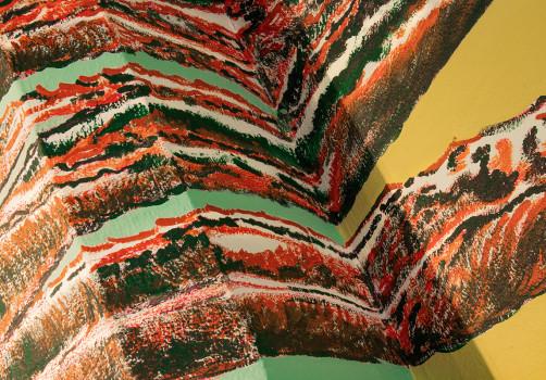 SantiagoRobles, Mural, Paint, Painting, Quiote, Maguey, Cactus, LivingRoom, House, Art, ContemporaryArt, VisualArt