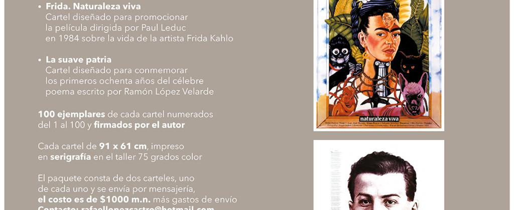SantiagoRobles, RafaelLopezCastro, Cartel, Poster, Libro, RamonLopezVelarde, Frida, SuaveTrazo