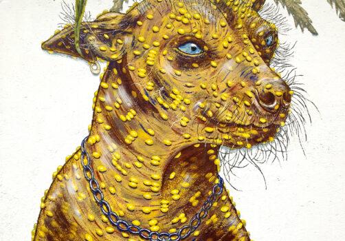 SantiagoRobles, Art, Arte, Mural, Painting, ContemporaryArt, Wall, Dog, Xolo, Maize, ArteVisual, Pared, EspacioPublico, PublicSpace, ElCultivo